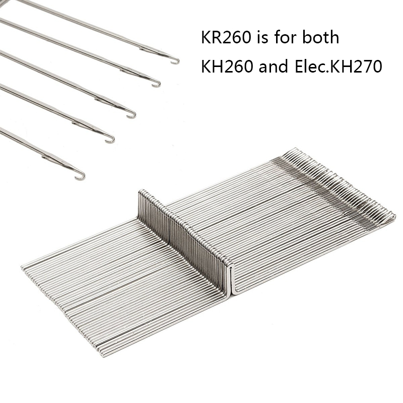 50PCS Steel Knitting Machine Needle Set for Brother 9mm Bulky Gauge Ribber Knitting Machine KR260 Durable