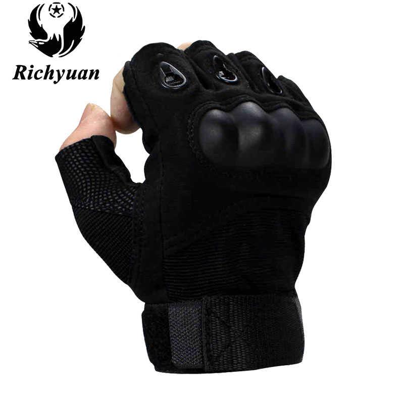 Militär Armee Radfahren Anti-skid Rüstung Schutz Shell Halbe Finger Handschuhe für herren Outdoor Sport Taktische Handschuhe
