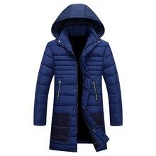2017 зима новый стиль мужской моды досуг пальто куртки Мужчины thicking Хлопка стеганые куртки мужские Ветровки Бесплатная доставка
