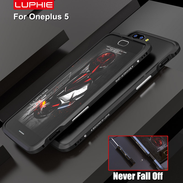 wholesale dealer 0d35a 4c671 US $9.88 |oneplus 5 bumper original LUPHIE ultra thin metal frame aviation  aluminum armor border for one plus 5 oneplus 5 cases-in Phone Bumper from  ...