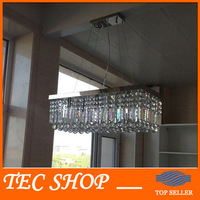 JH 2015 New Modern Luxury K9 Crystal Chandeliers L39 5 X W10 X H10 Rectangle Pendant