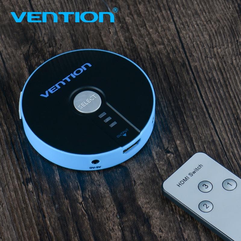 Vention 3 puerto HDMI Switch Switcher HDMI Splitter 3x1 para PS3 PS4 Xbox 360 Unid DV DVD HDTV 1080 p HDMI 3 entrada 1 Adaptador de salida