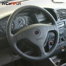 WCaRFun черный искусственная кожа авто чехол рулевого колеса автомобиля для Opel Zafira A 1999-2005 Buick Sail Opel Astra G H 1998-2007