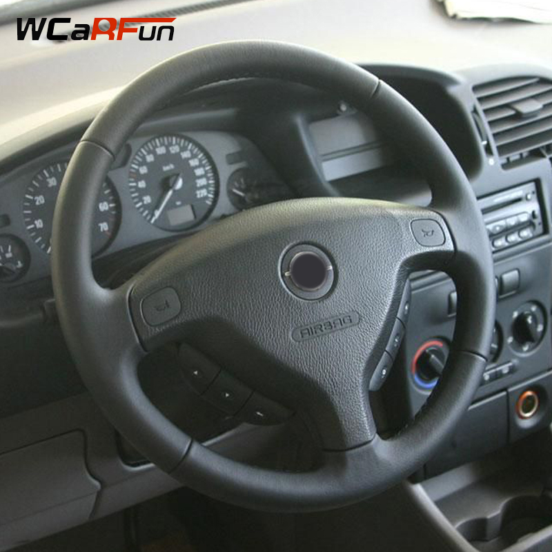 WCaRFun Black Artificial Leather Auto Car Steering Wheel Cover for Opel Zafira A 1999-2005 Buick Sail Opel Astra G H 1998-2007