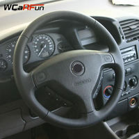 WCaRFun Black Artificial Leather Auto Car Steering Wheel Cover for Opel Zafira A 1999 2005 Buick Sail Opel Astra G H 1998 2007