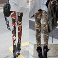 New arrivals Summer and Spring Women's Leggings Fitness 2016 Camouflage Pants Pure Cotton 100% Leggins High Elastic