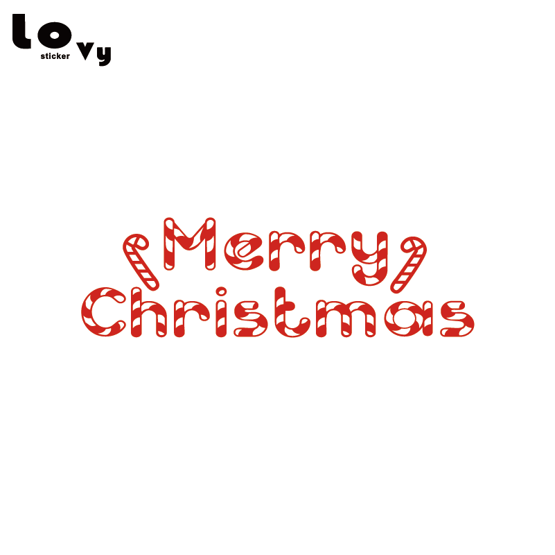 Merry Christmas Holiday Candy Cane Vinyl Wall Sticker Creative Xmas Art Wall Decal Home Decor Wa0615 Wall Stickers Aliexpress