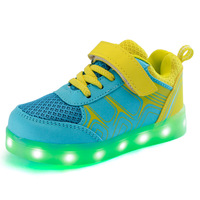 Size 25 37 USB Charging Led Children Shoes Kids With Light Up Luminous Glowing Shoes For
