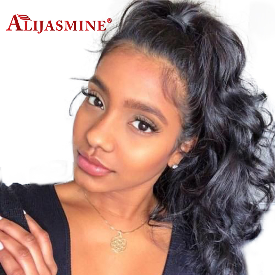 Body Wave 360 Lace Frontal Wig Pre Plucked With Baby Hair 8 26 Natural Color Brazilian