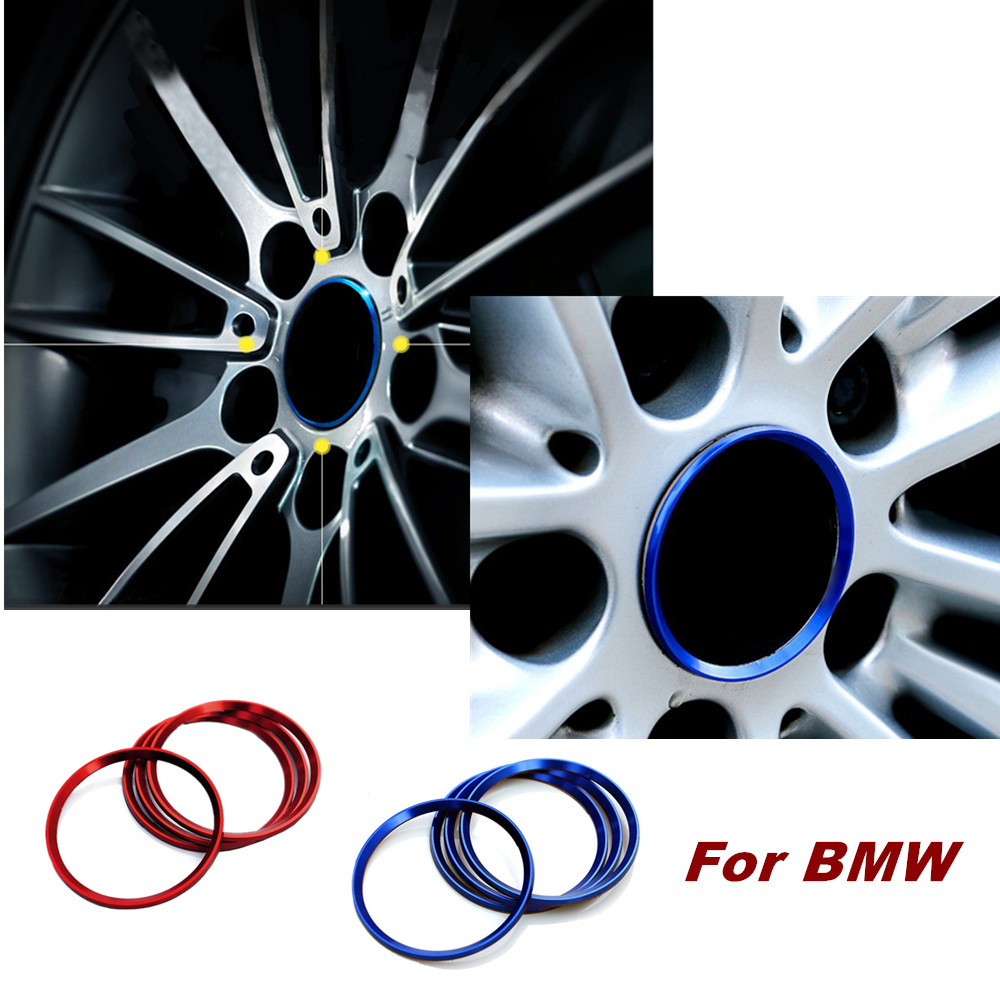 4pcs Aluminum Alloy Wheel Hub Cover Decorative Circle Car Styling For BMW Covers Trim Circle Ring 1 3 5 Z3 X1 X3 X5