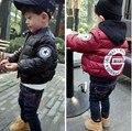 Novas Crianças Inverno casacos meninos Casacos de Moda Casaco Crianças Jaqueta Com Capuz Quente Roupas para 2-6 anos de idade