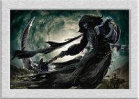 Grim Reaper Comic Cartoon Oil Painting HD Canvas Printing Art Giclee Home Decoration Wall Murals Holiday