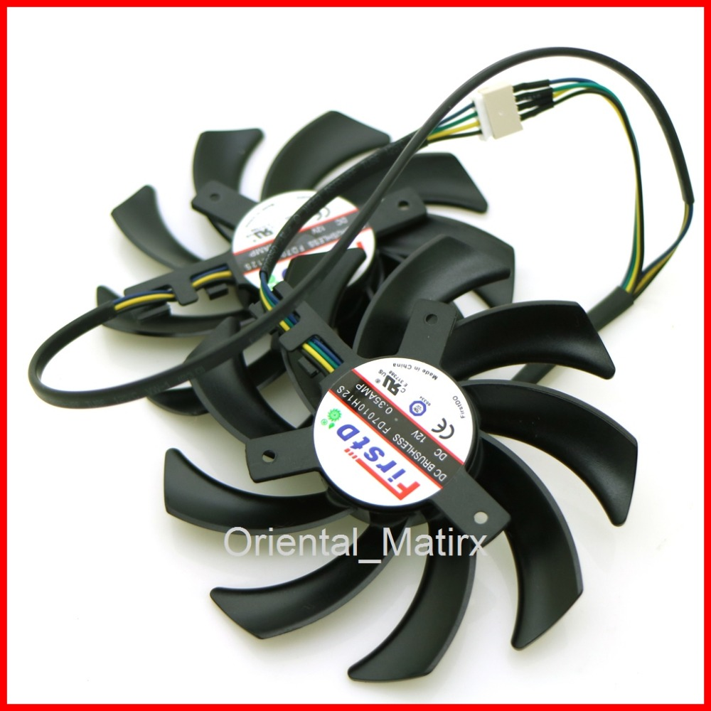 Free Shipping 2pcs/lot 85mm 12V Computer VGA Graphics Video Card Fan For Sapphire R9-370X/270/280/280X/285X Cooler Cooling Fan