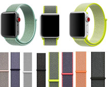 Correa tejida más nueva para Apple Watch band nylon Sport loop 38 42mm 40 44mm correa para iwatch pulsera la serie 5/4/3/2/1(China)