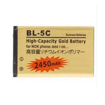 Bateria dorada Original BL5C BL-5C para Nokia 1000/1010/1100/1108/1110/1111/1112 /1116/2730 BL 5C batería
