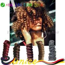 Crochet Hair Extension Wand Curl Crochet Braids Free Shipping Synthetic Braiding Hair For African Black Women Kenzie Curl Hair