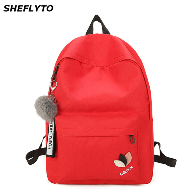 3d2291146c Fashion Women Waterproof Nylon Backpacks Female Rucksack Pink School  Backpack For Girls Travel Bag Notebook Bag Bolsas Mochilas