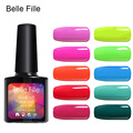 Belle Fille Candy Color Gelpolish UV Gel Color Nail Soak Off  Vernis Semi Permanent Nail Pure Gel Rose Polish UV LED Gel Polish