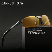 Aluminum magnesium Top Quality Mens Polarized Night Vision glasses Brand Designer Yellow Lens women Night Vision Driving Glasses