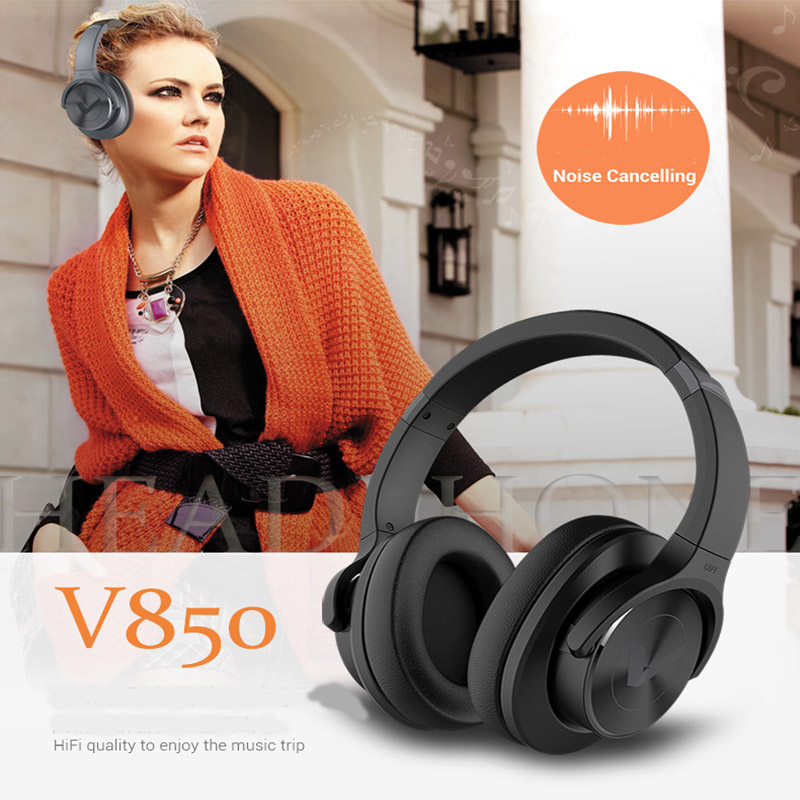 W-King Vdison 2018 V850 Hifi Headphone Noise Cancelling Bluetooth Headphones Over-Ear Game Headset HI-FI Quaility For Music game over