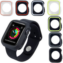 Silicone Case Bumper for Apple Watch 44mm 40mm 42mm 38mm for IWatch Series 4 3 2 1 Watch Cover Frame Protection Case