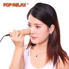 POP RELAX реальный нефрит Отопление ролик мокса лица Красота устройства по уходу за кожей удалить носогубные складки морщины здравоохранения массаж лица
