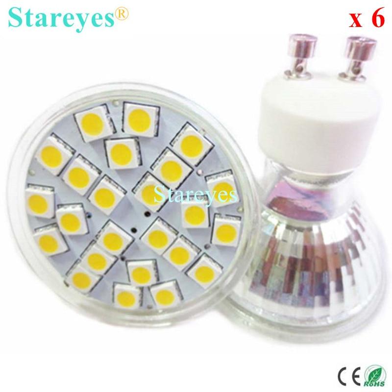 6 pcs SMD5050 24 LED 5W GU10 E27 MR16 AC110-240V&DC12V LED Spotlight led bulb led droplight led downlight led lamp LED light