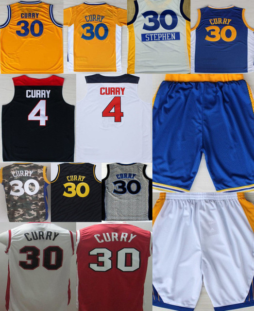 6067364fb 30 Stephen Curry Jersey Shorts College Basketball Blue Black Camo Best White  Red Curry Christmas Shirts Top Quality Hot Sale