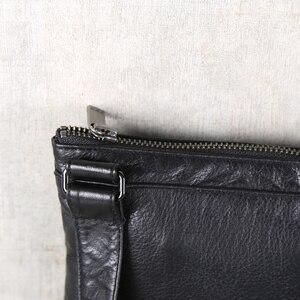 Image 3 - AETOO Mens handmade cowhide shoulder shouldered Baotou cowhide casual horizontal leather bag