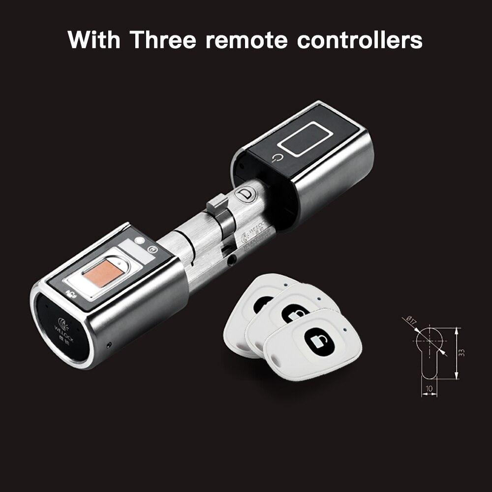 L5SR-Plus WELOCK Bluetooth APP Intelligente Serratura Elettronica Cilindro Esterno Impermeabile Keyless Biometrico Scanner di Impronte Digitali serratura della porta