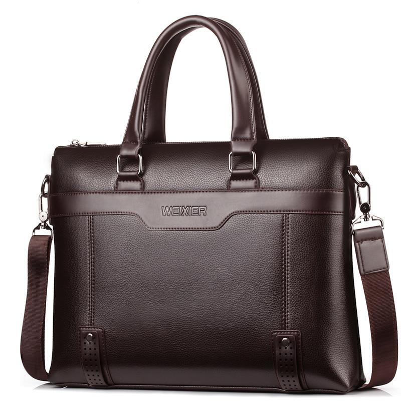 Famous Brand Men Briefcase Bag Business Shoulder Messenger Bags Men Office Handbag Large Capacity Male Bag WBS504