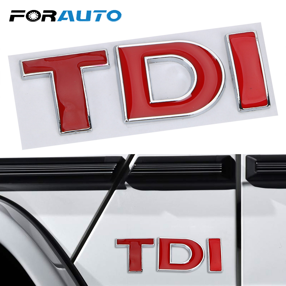 Forauto Tdi Logo 3d Metal Emblem Badge Car Sticker Decal