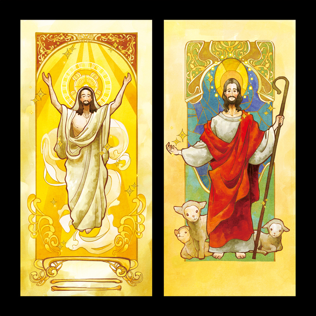 Europese Stijl Gold Jesus Stuk Glas Raamsticker Privacy Beschermende ...