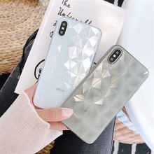 Geometric Phone Case For Apple iPhone X 6 6S 7 Plus fashion Diamond Anti-knock cover for iphone 8 plus shockproof shell