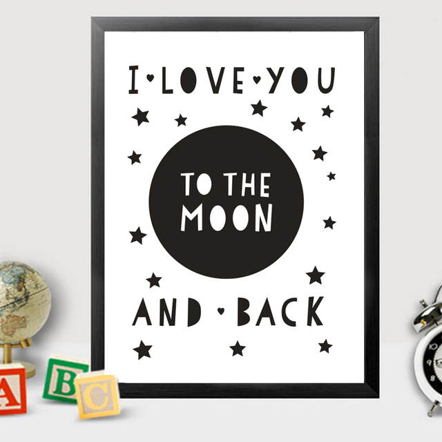 I Love You To The Moon And Back Wall Art aliexpress : buy i love you to the moon and back canvas