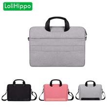 LoliHippo Laptop Waterproof Bag Notebook One-shoulder Bag Shock Proof Briefcase for Apple Macbook Air Pro 13.3 14.1 15 Inch