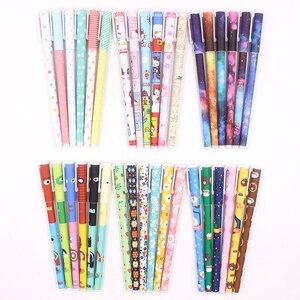 Image 3 - Jonvon Satone 60 Adet (10 takım) sevimli Kalemler 0.38mm Jel Kalemler Yıldızlı Yıldız Çocuk Için Jel Kalem Siyah Mürekkep Dolum Ofis Okul Malzemeleri Hediyeler