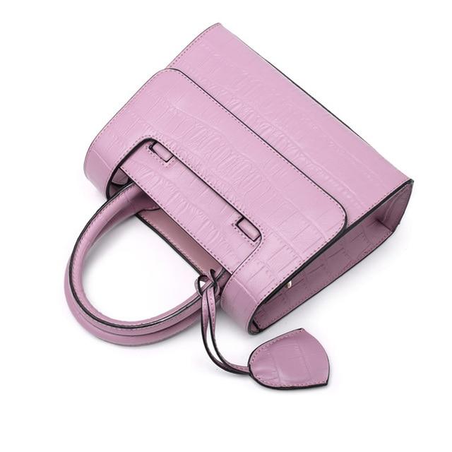 Eleindole Brand New Women Shoulder Bags Genuine Leather Crocodile Texture Ladies Handbags Cross Body Solid Women Shoulder Bag