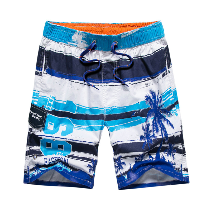 sungas de praia homens 2018 Fashion summer   shorts   plus size swimwear quick-drying beach   shorts   Printed   shorts   pants   board     shorts