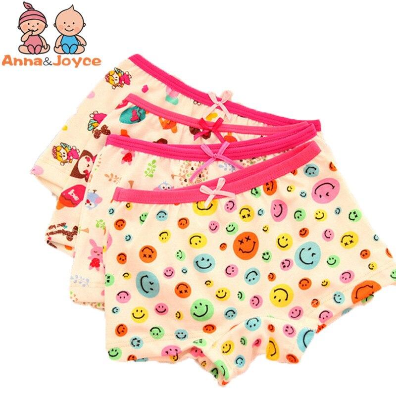 3pcs/lot  Baby Girls Underwear boxer Cotton Panties for Girls Kids Boxer Underwear A Variety of Fancy 2