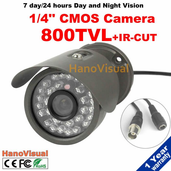 800TVL 1/4 CMOS CCTV Camera With IR-CUT Filter 30pcs Infrared IR Leds Waterproof Nigt Vision Metallic IR Surveillance Camera smar home security 1000tvl surveillance camera 36 ir infrared leds with 3 6mm wide lens built in ir cut filter