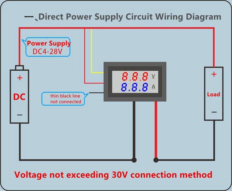 DC 0-100V 10A 50A 100A Electronic Digital Voltmeter Ammeter 0.56'' LED Display Voltage Regulator Volt AMP Current Meter Tester