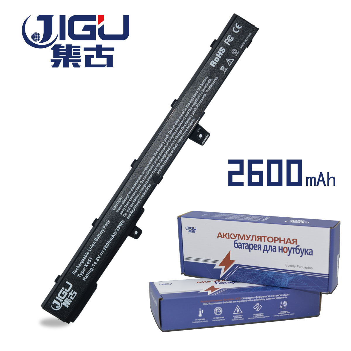 JIGU Laptop Battery 0B110-00250100 A41N1308 A31N1319 FOR ASUS X451 X551 X451C X451CA X551C X551CA дрель аккумуляторная ryobi rcd12011l