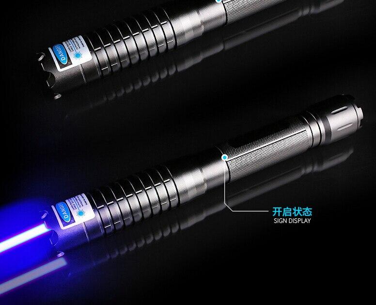 Haute Puissance Militaire pointeur laser Bleu 200 w 200000 m 450nm Plus Puissant Combustion Correspondance/papier/bougie/ noir/Brûler Cigarettes + Lunettes