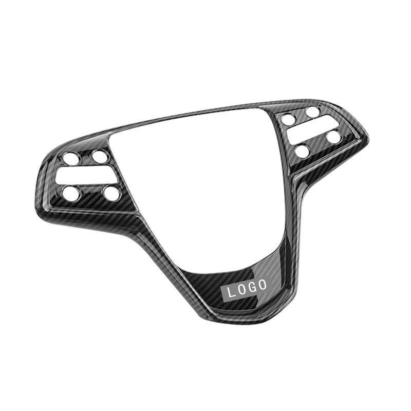 2018 Cadillac Ats Interior: 1PC Black Carbon Fiber ABS Steering Wheel Cover Trim New