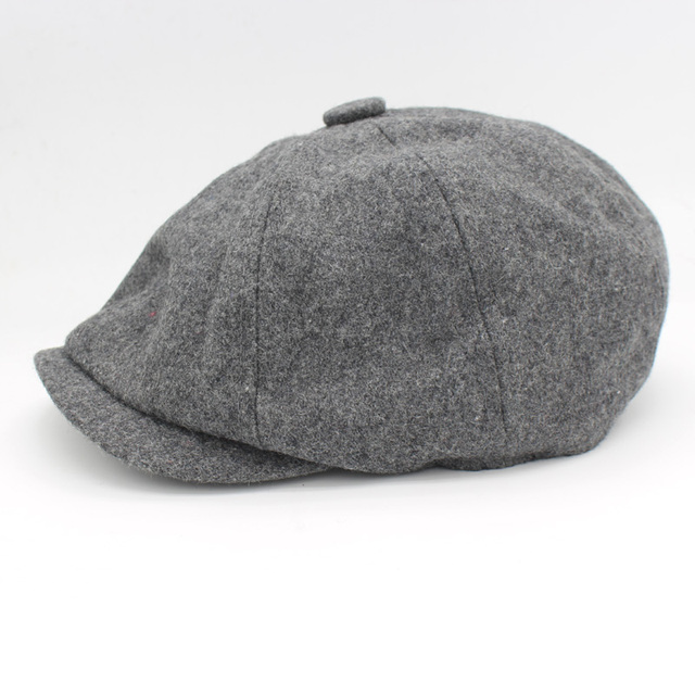 David Beckham Same Design Male Beret Fashion Gorras Planas Solid Boina Wool Beret For Men Hats Casual Octagonal Cap HT51095+15