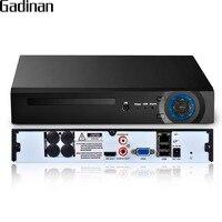 GADINAN H 265 25CH 5MP 8CH 4K 8MP 32CH 1080P Security NVR Support 1x6TB SATA HDD