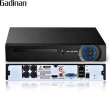 GADINAN H.265 32CH 5MP/8CH 4K (8MP) /32CH 1080P Beveiliging NVR Ondersteuning 1x6TB SATA HDD met XMeye App HDMI Vga uitgang 3G WIFI P2P