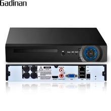 GADINAN H.265 32CH 5MP/8CH 4K (8MP)/32CH 1080P 보안 NVR 지원 1x6 테라바이트 SATA HDD XMeye App HDMI VGA 출력 3G WIFI P2P