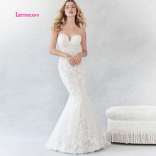 LEIYINXIANG Elegant Wedding Dress Sleeveless Backless